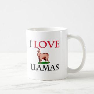 J'aime des lamas mug