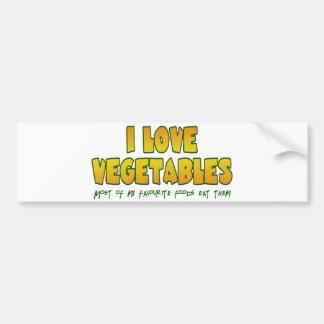 J'aime des légumes autocollant pour voiture