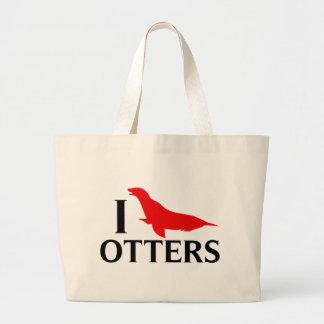 J'aime des loutres, j'aime des otaries grand sac