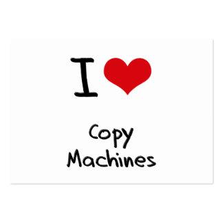 J'aime des machines de copie carte de visite