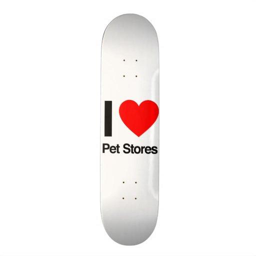 j'aime des magasins d'animal familier plateau de skateboard