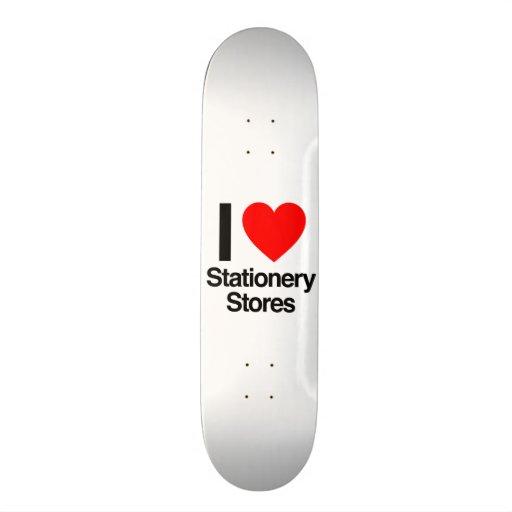 j'aime des magasins de papeterie planches à roulettes customisées