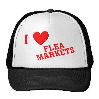 J'aime des marchés aux puces casquette de camionneur