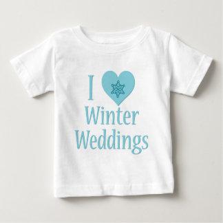 J'aime des mariages d'hiver t-shirts