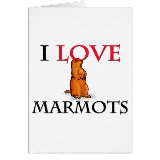 J'aime des marmottes carte de vœux