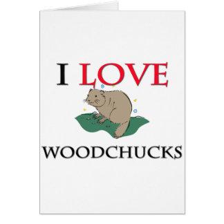J'aime des marmottes d'Amérique Carte De Vœux