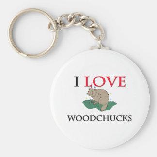 J'aime des marmottes d'Amérique Porte-clefs