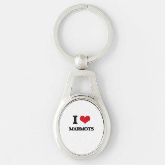 J'aime des marmottes porte-clés