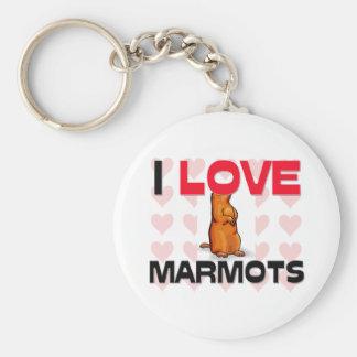J'aime des marmottes porte-clef