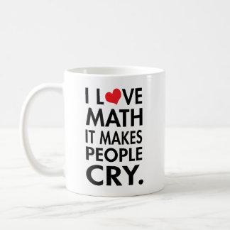 J'aime des maths, il incite des personnes à mug