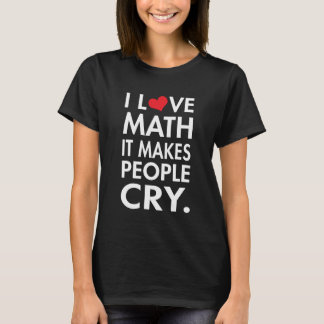 J'aime des maths, il incite des personnes à t-shirt