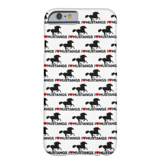 J'aime des mustangs - cas de l'iPhone 6 Coque iPhone 6 Barely There