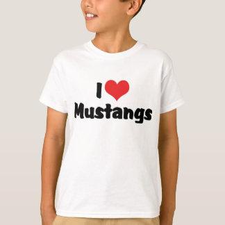 J'aime des mustangs de coeur - amant de cheval t-shirt