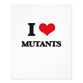 J'aime des mutants prospectus en couleur