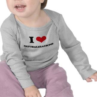 J'aime des naturalisations t-shirts