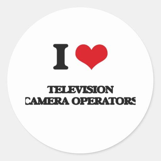 J'aime des opérateurs de caméra de télévision autocollants ronds