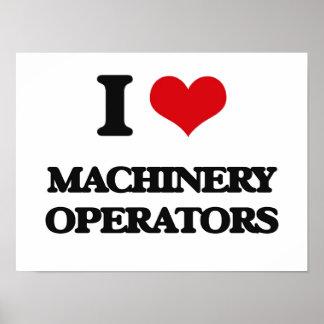 J'aime des opérateurs de machines posters