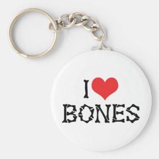 J'aime des os de coeur - amant d'archéologie de porte-clé rond