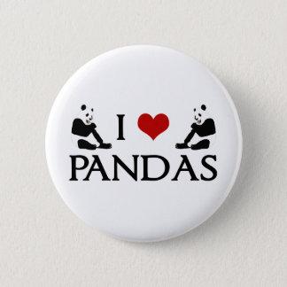 J'aime des ours panda mignons pin's