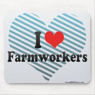 J'aime des ouvriers agricoles tapis de souris
