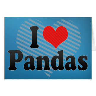 J'aime des pandas carte de vœux
