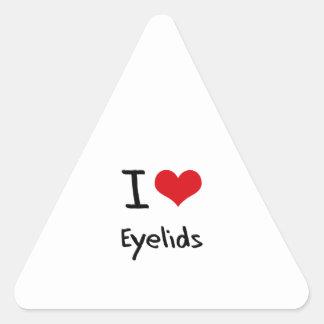 J'aime des paupières sticker triangulaire