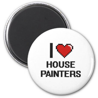 J'aime des peintres de Chambre Magnet Rond 8 Cm