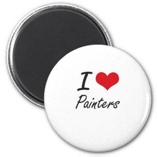 J'aime des peintres magnet rond 8 cm