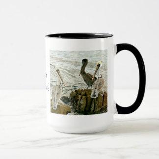 J'aime des pélicans ! Tasse de café
