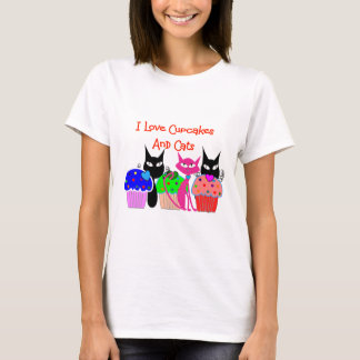 """""""J'aime des petits gâteaux et des chats""""--Cadeaux T-shirt"""