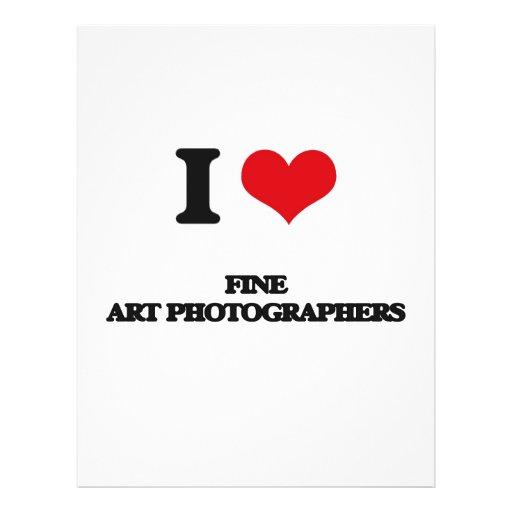J'aime des photographes de beaux-arts prospectus avec motif