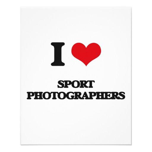 J'aime des photographes de sport prospectus avec motif