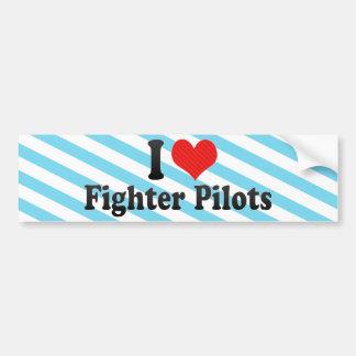 J'aime des pilotes d'avion de chasse autocollant de voiture