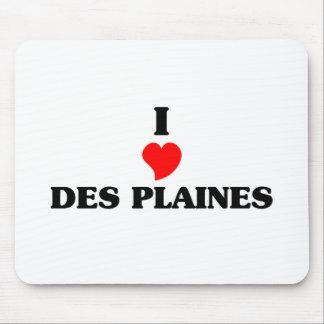 J'aime Des Plaines Tapis De Souris