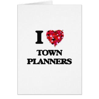 J'aime des planificateurs de ville carte de vœux