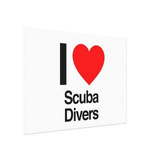 j'aime des plongeurs autonomes toiles tendues