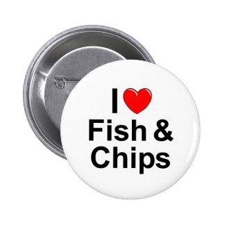 J'aime des poissons et des puces (de coeur) pin's
