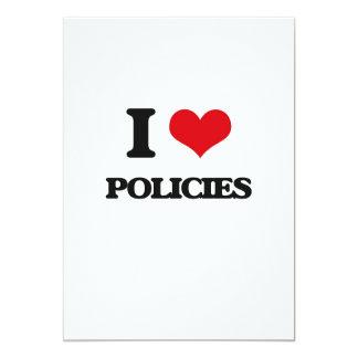 J'aime des politiques carton d'invitation  12,7 cm x 17,78 cm