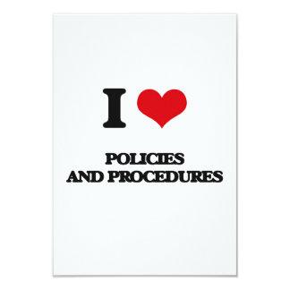 J'aime des politiques et des procédures carton d'invitation 8,89 cm x 12,70 cm