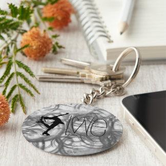 J'aime des porte - clés de patinage artistique - porte-clé rond