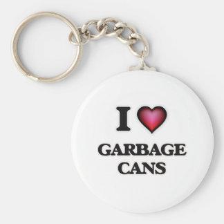 J'aime des poubelles porte-clé rond
