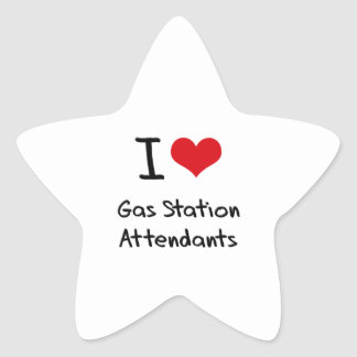 J'aime des préposés de station service stickers en étoile