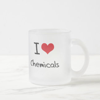 J'aime des produits chimiques mugs à café