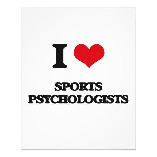 J'aime des psychologues de sports prospectus en couleur