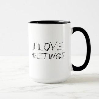 J'aime des réunions - urbaines, tasse énervée de