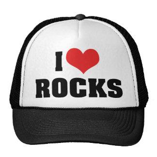 J'aime des roches - amant de géologue de géologie casquette