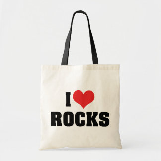J'aime des roches - amant de géologue de géologie sacs en toile