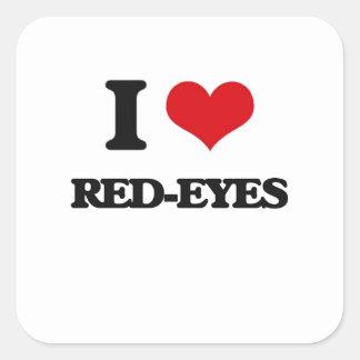 J'aime des Rouge-Yeux Stickers Carrés