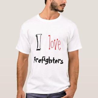 J'aime des sapeurs-pompiers t-shirt