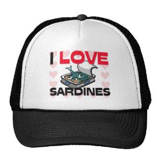 J'aime des sardines casquettes de camionneur